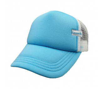 Turquoise Plain Trucker Fashion Fit Hat