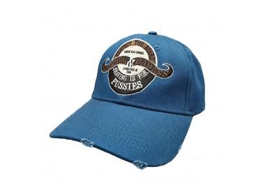 Bearded & Badass Strapback Hat Blue