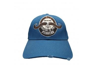 Bearded & Badass Hat Blue | Front