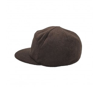 Lauren Rose 7-panel Short Dog-ears Fitted Hat Brown