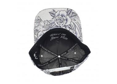 Lauren Rose - Summer Trucker Hat w/ Beach Time Print on Mesh