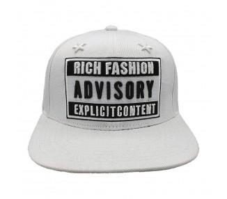 Lauren Rose Rich Fashion Advisory Snapback Hat - White