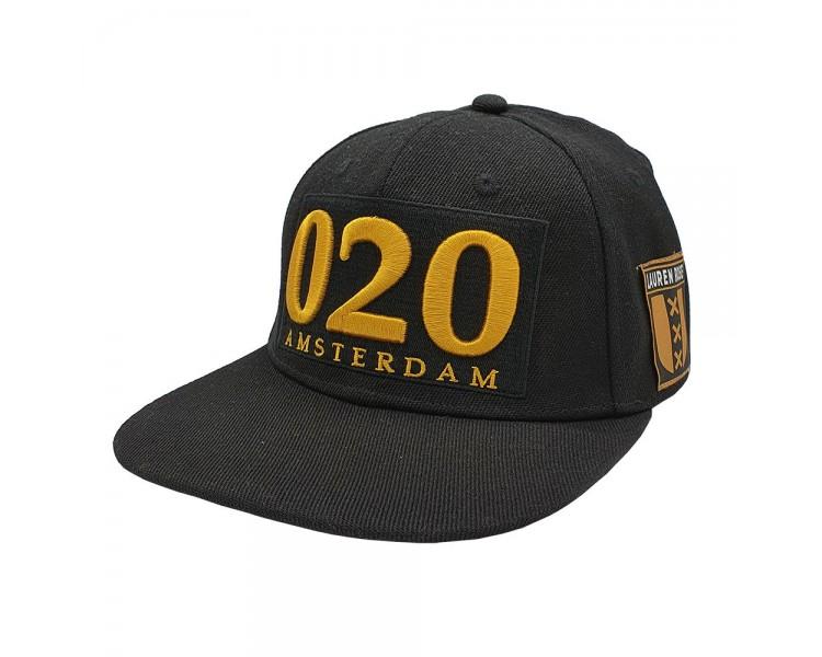 Amsterdam 020 Snapback Hat - Black/Gold