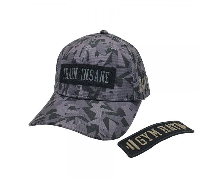 Gym Rat Camo Train Insane Velcro Patched Snapback Hat