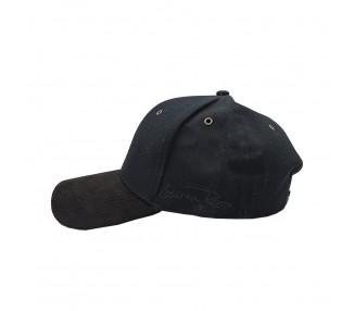 Suede Fashion Pet met Zwart Leather Look Panel