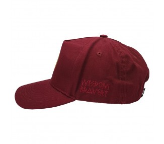 Indian First Nations Washed Burgundy A-Frame Hat