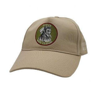 Indian First Nations Washed Khaki A-Frame Hat