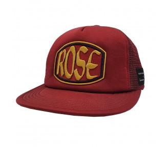 Rose Burgundy Gold Patch Trucker Hat