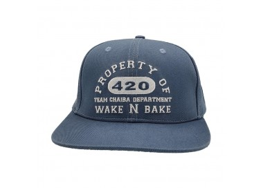 Chaiba Wake & Bake Washed Blue Hat Front View