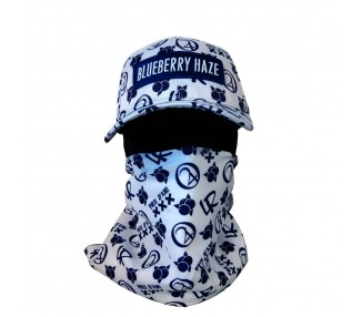 Blueberry Haze Strain Hat wit Bandana