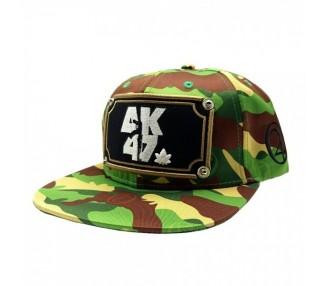 AK47 Camo 420 Hat Front View