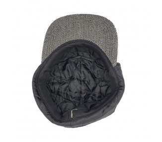 Lauren Rose 5-panel Dog-ears Fitted Hat Grey/Black